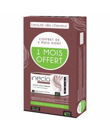 Santé Verte - Inecla Beauté des Cheveux - Coffret 3 mois x 60 comprimés