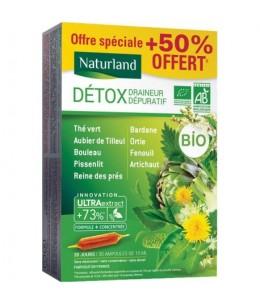 Naturland - Detox Bio Draineur Dépuratif - 30 ampoules