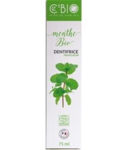 C'Bio - Dentifrice Fraicheur Menthe bio - 75 ml dentifrice haleine fraiche pureté espritphyto