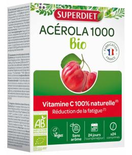 Super Diet - Acérola 1000 BIO - 24 comprimés Espritphyto