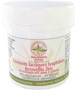 Herboristerie de Paris - Ferments lactiques lyophilisés Boswellia Zinc - 60 gélules