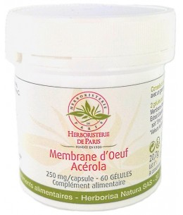 Membrane d'oeuf de poule Acérola - 60 gélules - Herboristerie de Paris Articulations