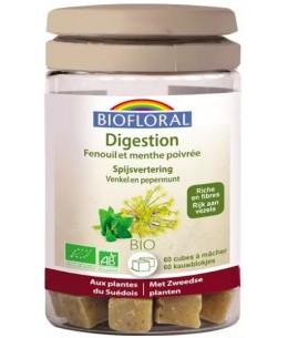 Cubes à mâcher Digestion 60 cubes - Biofloral fenouil menthe poivrée Espritphyto