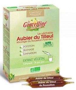 La Gravelline - Aubier de tilleul du Roussillon Bio 30 ampoules de 10 ml draineur bio Espritphyto