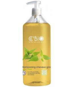 Shampooing cheveux gras Argile Ortie 500 ml C'bio pureté hygiène Espritphyto
