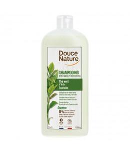 Douce Nature - Shampoing des familles sans sulfates tous cheveux Thé vert d'Inde 1L