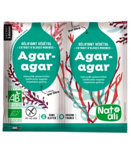 Natali - Agar Agar bio Gélifiant alimentaire végétal  8g