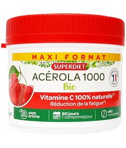 Super Diet - Acérola Bio 1000 Vitamine C maxi pot 60 comprimés
