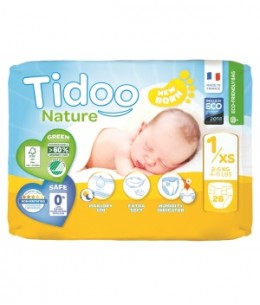 Tidoo - 26 Couches Single Pack (T1/XS) 2/5kg x26
