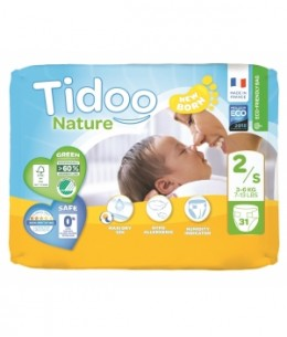 Tidoo - 31 Couches Single Pack (T2/S) 3/6kg x31