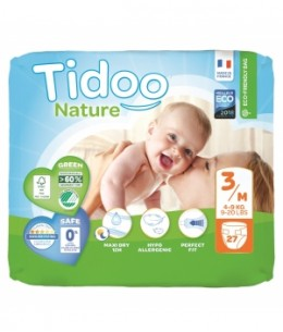 Tidoo - 27 Couches Eco Single Pack (T3/M) 4/9kg x27