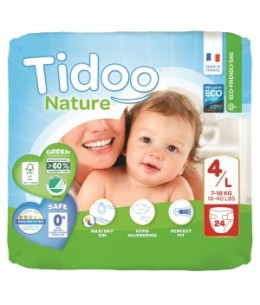 Tidoo - 24 Couches Single Pack (T4/L) 7/18kg x24