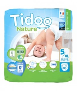 Tidoo - 22 Couches Single Pack (T5/XL) 12/25kg x22