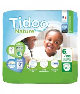 Tidoo - 18 Couches Single Pack (T6/XXL) 16 30 Kg x18