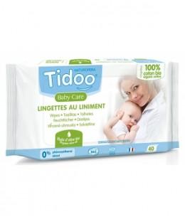 Tidoo - 40 Lingettes au liniment à l'huile d'olive et coton bio x40