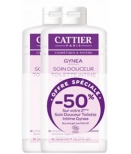 Cattier - Lot de 2 Soins Douceur Toilette Intime Gynéa 2x500ml