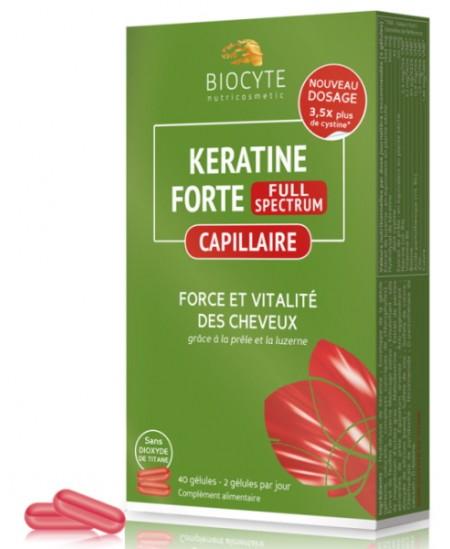 Biocyte - Keratine Forte - Force et vitalité des cheveux - 40 gélules
