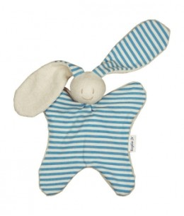Keptin jr - Doudou toddel classic rayé Bleu Ciel - 24 cm