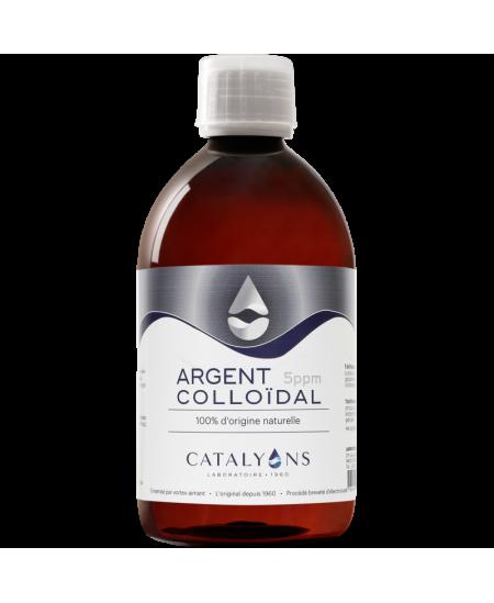 Catalyons - Argent Colloïdal 5 PPM - 500 Ml