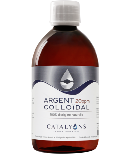 Catalyons - Argent Colloïdal 20 PPM - 500 Ml