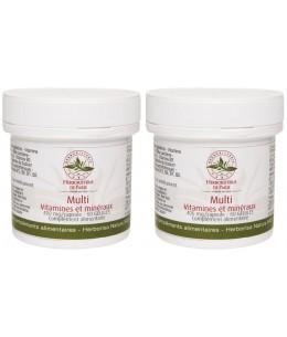 Herboristerie de paris - Lot de 2 Multi Vitamines et Minéraux 2x60 gélules 2 mois tonus anti carences Espritphyto