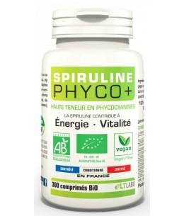 Lt Labo - Spiruline Bio PHYCO PLUS 300 comprimés phycocyanine anti radicaux libres Espritphyto