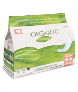 Organyc - 12 Serviettes Maternité Premiers Jours