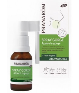 Pranarôm - Spray gorge bio Aromaforce 15 ml