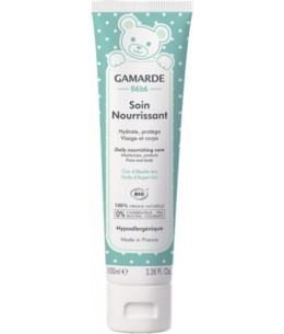 Gamarde - Soin Nourrissant Visage et Corps bébé Tube 100 ml hydratant anti-irritations peau fragile Espritphyto