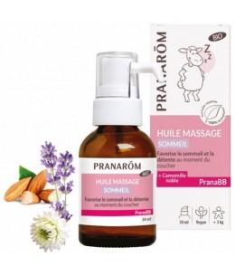 Pranarôm - Huile de massage Sommeil bio PRANABB 30ml coucher de bébé serein Espritphyto