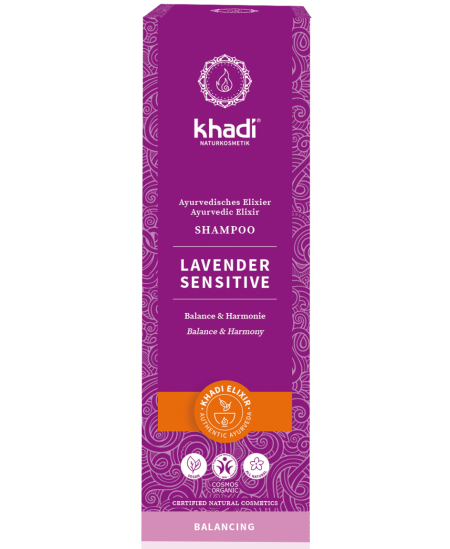 Khadi - Shampoing ayurvédique Lavender Sensitive - 200 ml