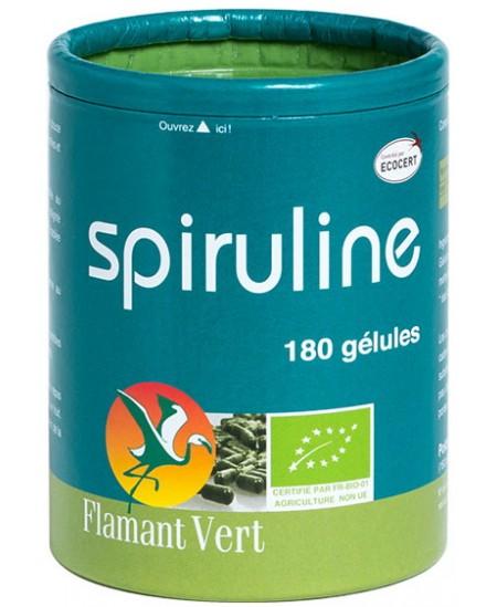 Flamant Vert - Spiruline Bio Ecocert - 180 gélules