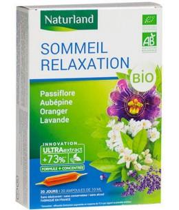 Naturland - Extrait Fluide Bio - Passiflore, Aubépine, Oranger, Lavande
