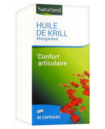 Huile de Krill Manganèse - 45 capsules - Naturland oméga biodisponible Espritphyto