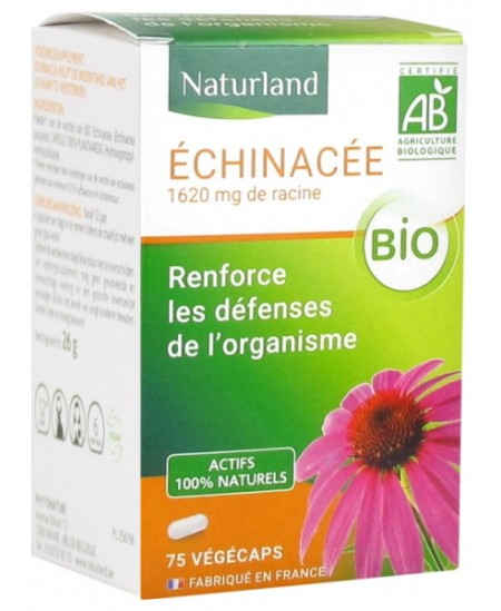 Echinacée bio 75 Végécaps - Naturland echinacea purpurea Espritphyto