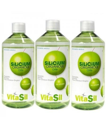 Vitasil - Silicium Organique Pack de 3 x 500ml articulations cartilages Espritphyto