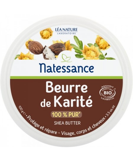 Natessance - Beurre de Karité BIO 100 gr Butyrospermum parkii (shea) butter Espritphyto