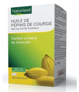 Huile de Pépins de courge bio - 90 capsules - Naturland confort urinaire masculin Espritphyto