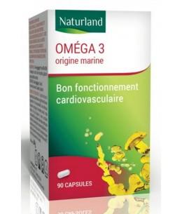 Oméga 3 90 Capsules de 520mg Naturland Espritphyto équilibre cardiovasculaire