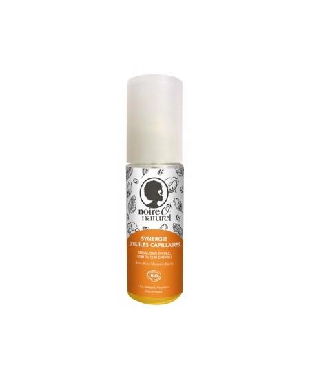 Noire O Naturel - Synergie d'huiles capillaires cheveux frisés à crépus