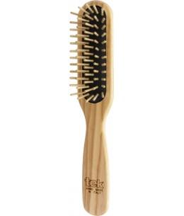 Brosse rectangulaire en Frêne naturel - Tek picots courts cheveux courts Espritphyto