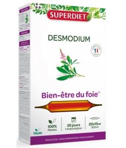 Desmodium Bien être du Foie 20 Ampoules de 15ml Super Diet cellules hépatiques digestion Espritphyto