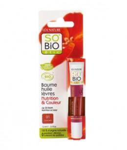 So'Bio étic - Baume huile à lèvres 01 corail satin 12ml