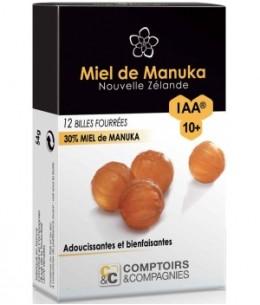 Comptoirs Et Compagnies - Billes Fourrées 30% Miel de Manuka IAA10 Plus 54gr