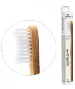 Humble Brush - Brosse à dents adultes blanche Soft 15gr