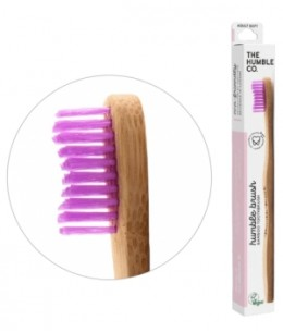 Humble Brush - Brosse à dents adultes rose Médium 15gr