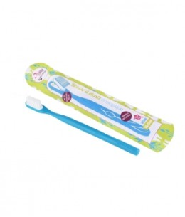 Lamazuna - Brosse à dents écologique rechargeable Bleue Medium 17gr