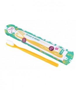 Lamazuna - Brosse à dents écologique rechargeable Jaune Medium 17gr