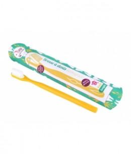 Lamazuna - Brosse à dents écologique rechargeable Jaune Souple 17gr