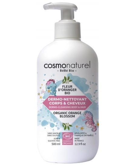 Bebe Bio - Dermo nettoyant bébé cheveux et corps bébé Fleur d'Oranger - 500 ml